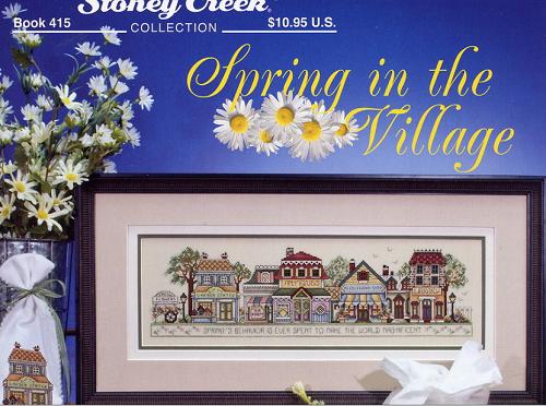 "Vídeo sobre ponto cruz – meu wip ""Spring in the village"" – Vlog"