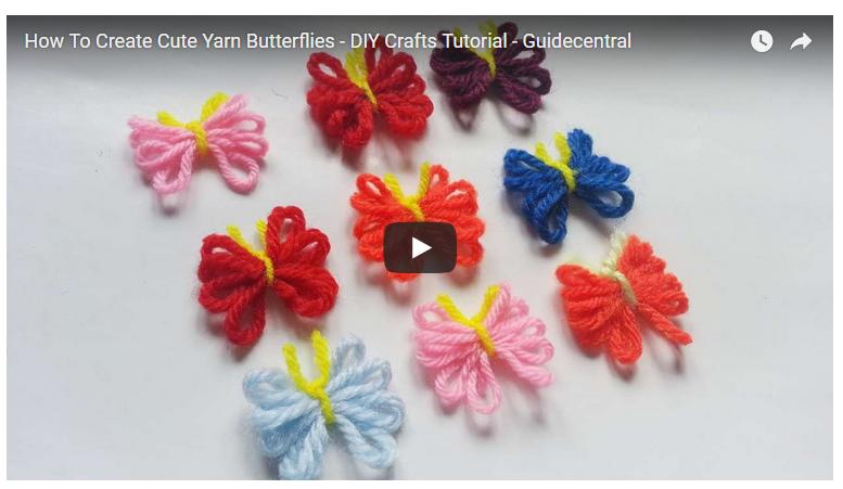 Achados: lacinhos, borboletas feitos de fio, para enfeitar