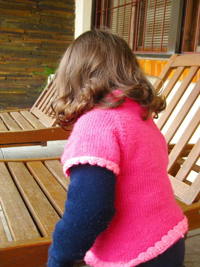 blusinha de trico para 2 anos