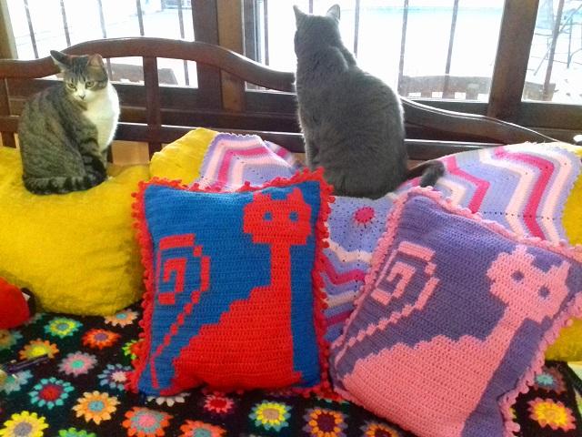 minhas gatinhas no sofá