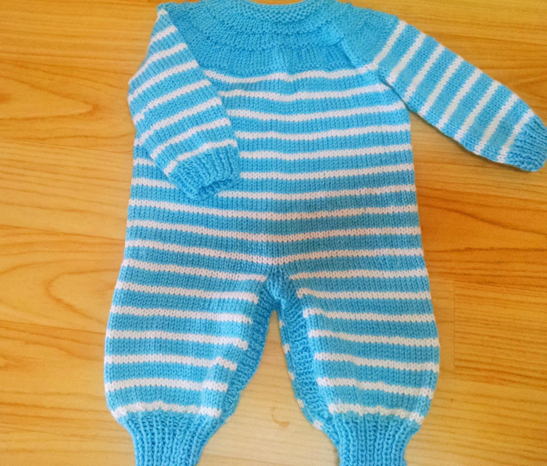 Tricô para bebê : Macacão em tricô (tip top)- Receita e vídeo