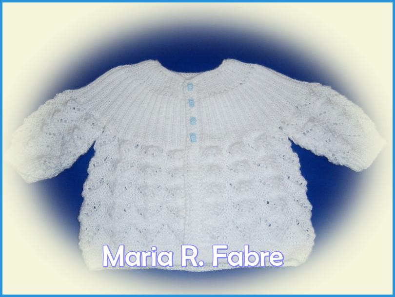 Casaquinho de tricô Ana by Maria R. Fabre