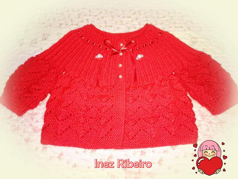 Casaquinho Ana em vermelho By Inez Ribeiro