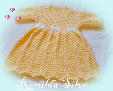 Vestido Salmão em tricô da Romilda 💕!!!