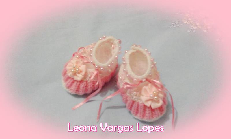 Sapatinho de princesa feito por Leona Vargas| Sapatinho com pérolas