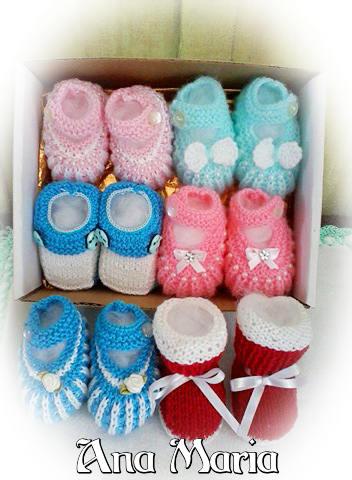 Sapatinhos em tricô lindos | By Ana Maria