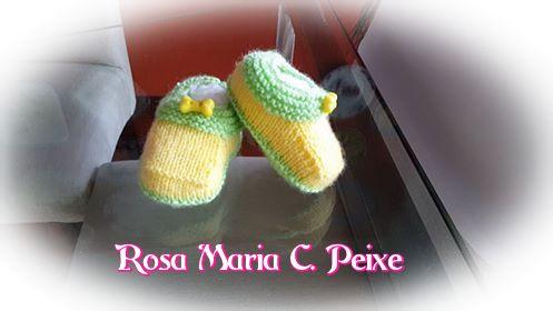 Sapatinho bibi, Sapatinho Vermelho, casaquinho Top down | Peças lindas da Rosa Maria C. Peixe