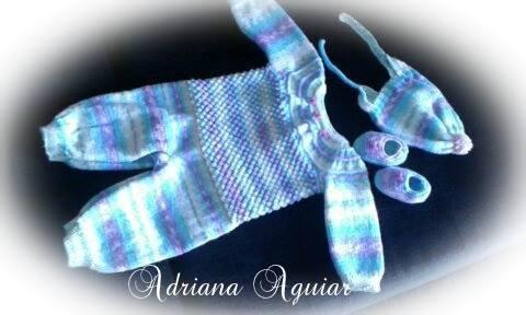 Macacão em tricô e vestido| Feitos pela  Adriana Aguiar