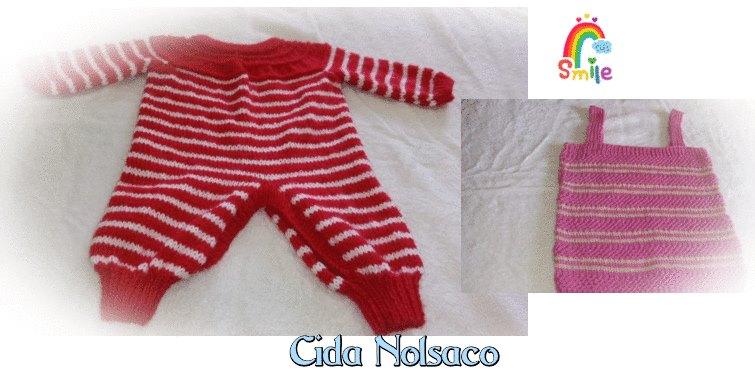 Macacão em tricô | Feito por Cida Nolasco