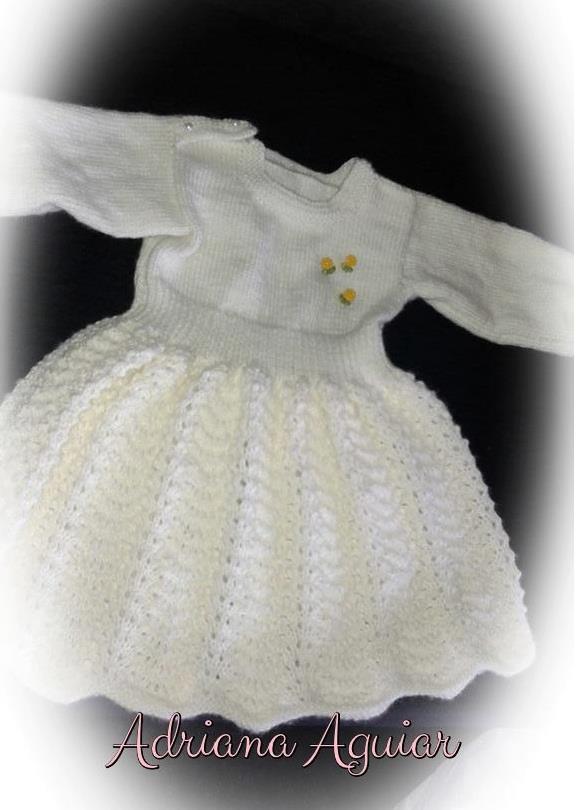 Vestido de tricô para 1 aninho | Adriana Avelar
