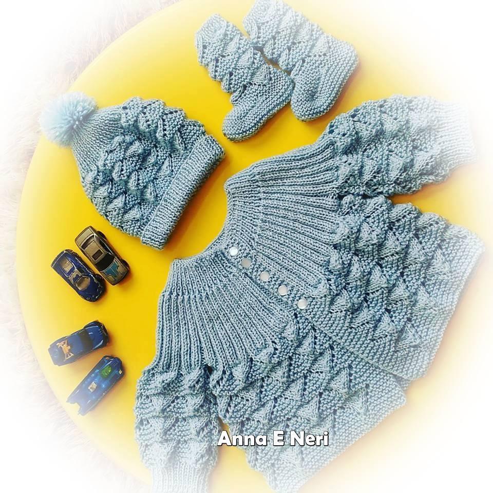 Conjuntinho em tricô | Feito por Ana E. Neri