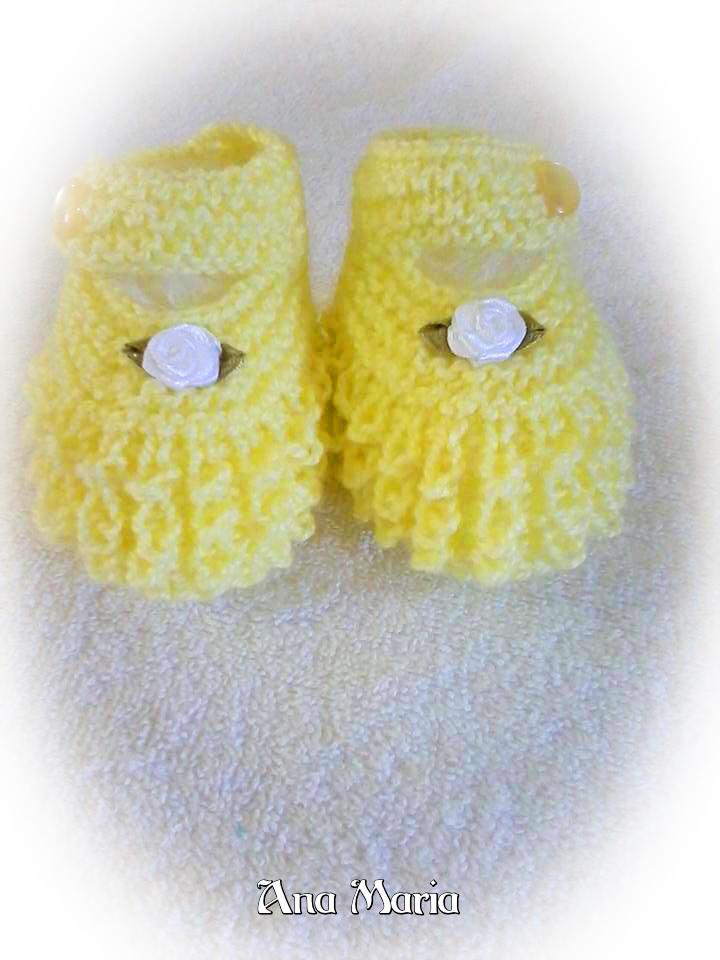 Sapatinho Croco e sapatinho oblíquo de tricô | Ana Maria | fofuras chegando no blog