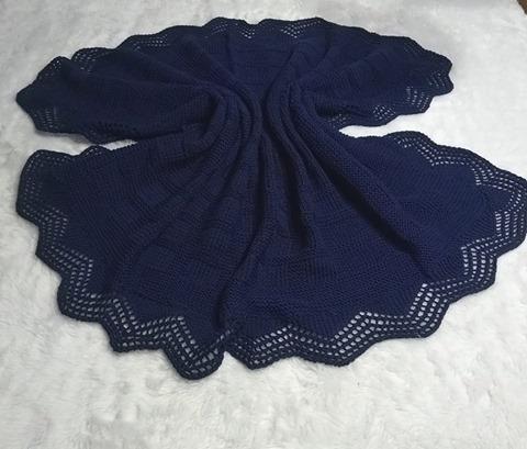 Manta de trico para bebê | Iza mendoça