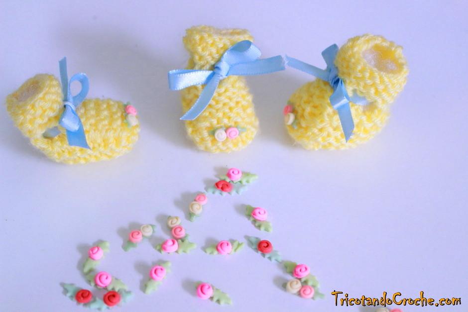 Lembrancinha de tricô | Sapatinho
