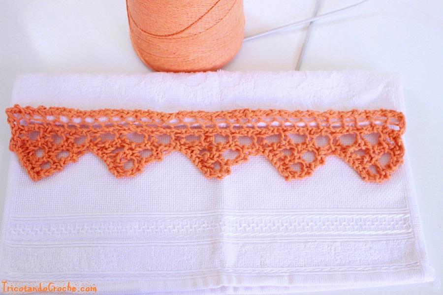 Barrado de tricô Para Pano de Prato e Toalhas