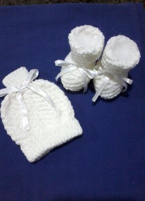 Conjunto de tricô para bebê com Barra Oblíqua | Ana Maria