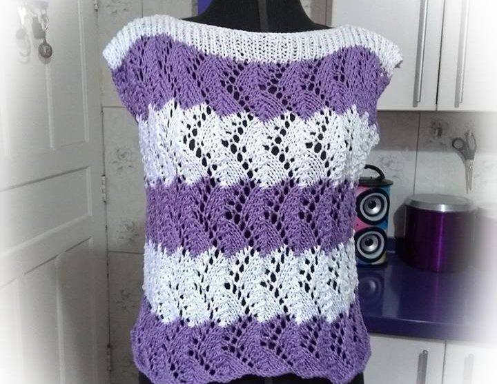 Blusa de tricô Cachos de Uva |Darlene Cordeiro