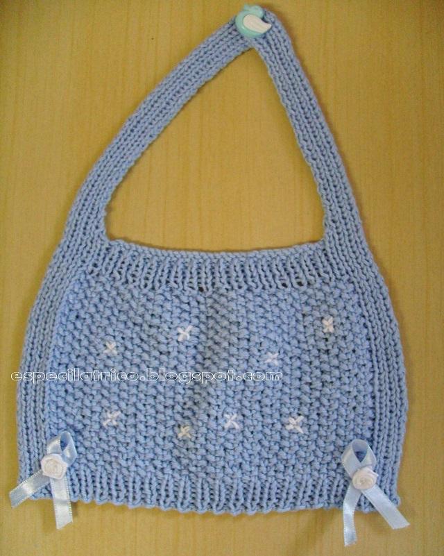 Babeiro de tricot -Pap