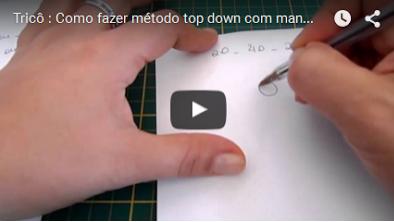 Tricô : Como fazer método top down com mangas raglan – parte 1