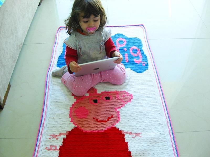 Crochê: Manta da Peppa Pig / Receita