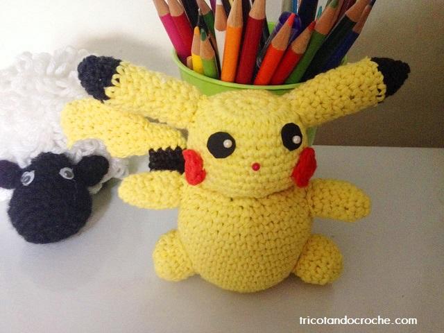 Na onda do Pokémon Go Brasil – Pikachu de crochê