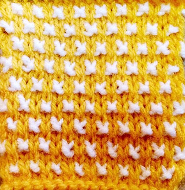 Ponto de tricô: Pequenos grãos | Salpicado