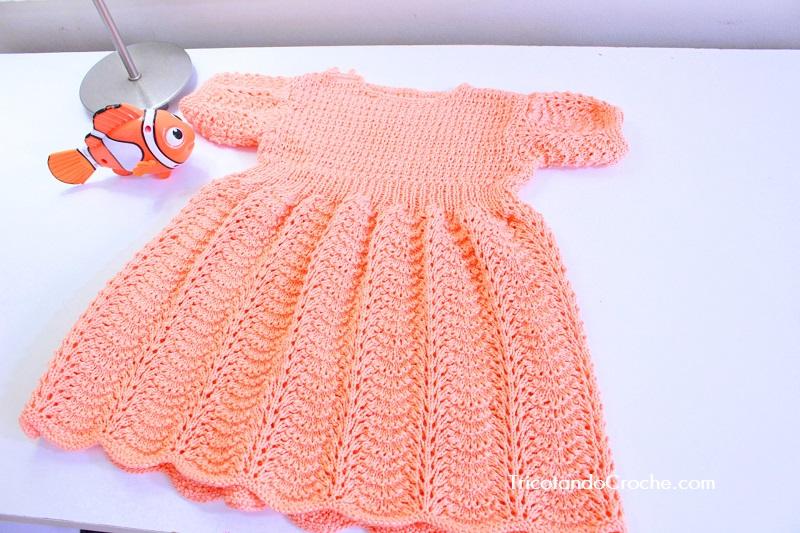 Vestido Salmão em tricot – Primeira parte