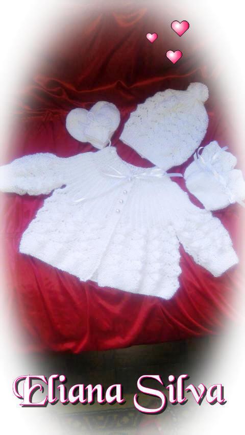 Conjuntinho Ana em tricô feito pela Eliana Silva