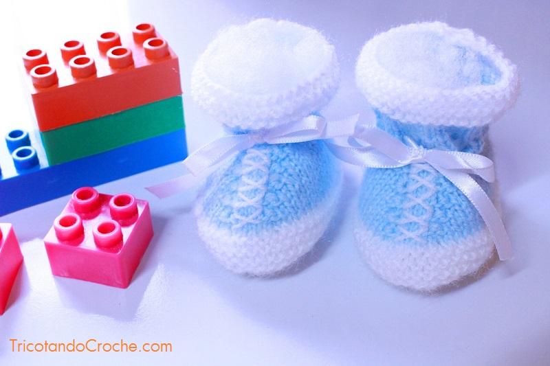 Sapatinho Novo no blog |Sapatinho para bebê em tricô