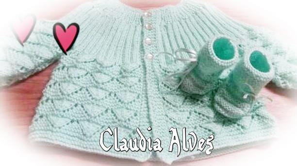 Casaquinho de tricô   By Claudia Alves