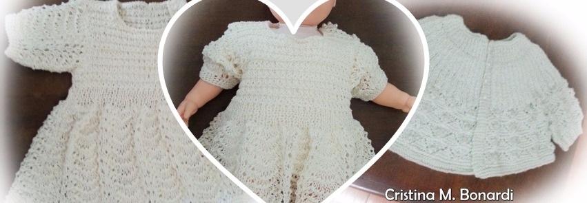 Vestido de tricô e casaquinho   By Cristina M. Bonardi