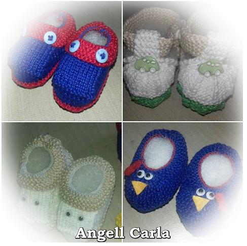 Lindos sapatinhos de tricô da Angell Carla