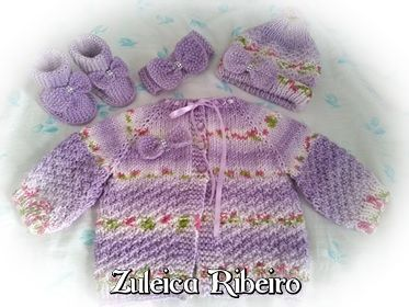 Conjuntinho de tricô para bebê   Zuleica Ribeiro  Fofuras de hoje