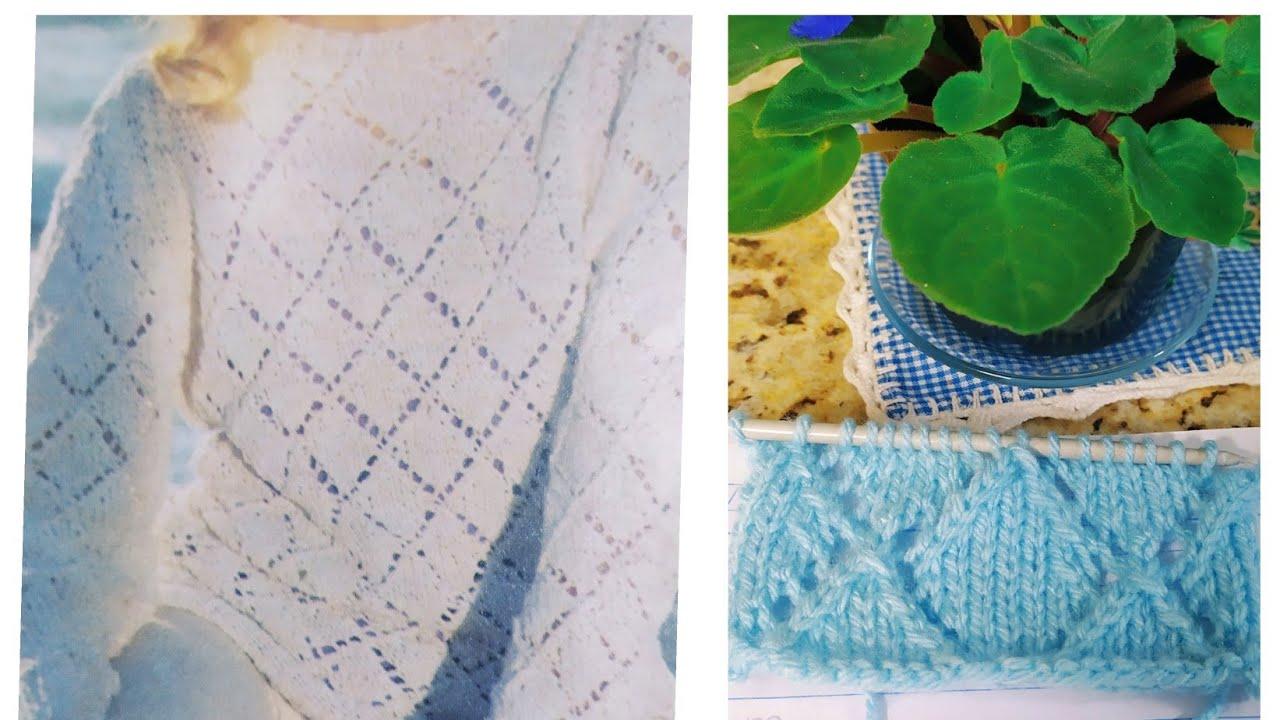 Receita do ponto losango para esta blusa de tricô