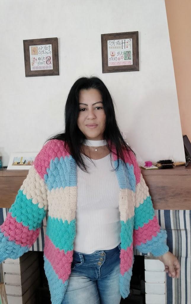 Casaco de tricô Ana Paula – vídeo tutorial